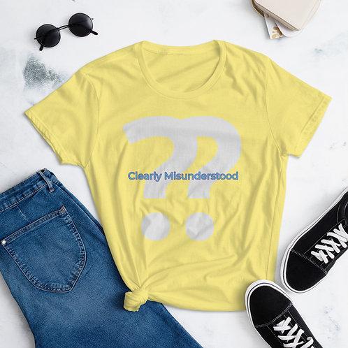 Clearly Misunderstood Women's short sleeve t-shirt