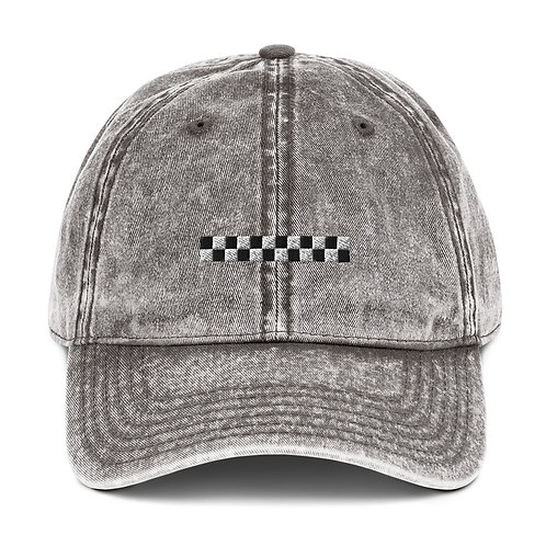 Check Vintage Cotton Twill Cap