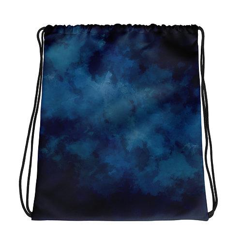 Blue-Black Drawstring bag