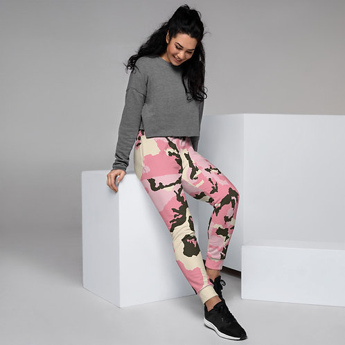 Pink Camouflage Women's Joggers