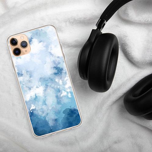 Blue Paint Design iPhone Case