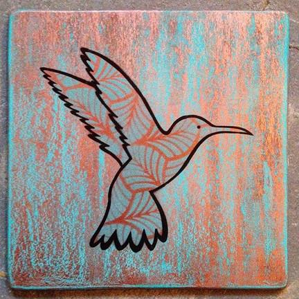 Colibri cuivre ancien - VENDU/SOLD