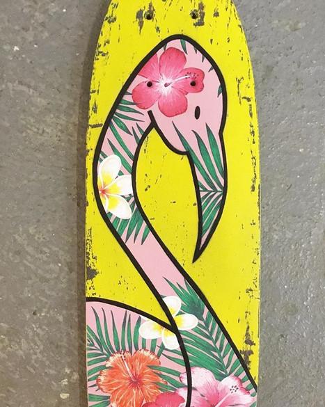 Aloha Flamingo Skate - VENDU/SOLD