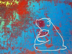Ursa Minor, Arosol sur bois, 25x35 VENDU/SOLD