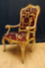Mobilier de Style | Charlotte et Claire | Tapissier d'ameublement Nimes | Fauteuil Louis XV | Garniture à l'ancienne en crin végétal sur châssis | Tissudamas velours