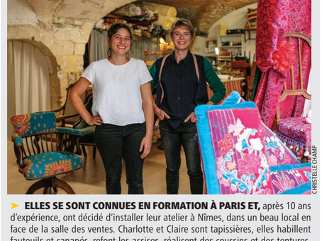 Charlotte et Claire dans la Gazette de Nimes !