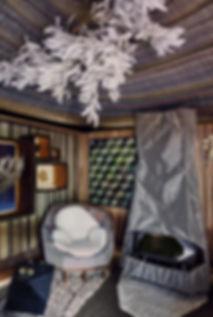 Mobilier Moderne et Contemporain | Charlotte et Claire | Tapissier d'ameublement Nimes | Exposition AD Interieurs 2016 - Hôtel de la Monnaie Paris| Fauteuil Fabrice Ausset | Garniture moderne | Coussins mousse| Tissu tissé fils métalliques or argent cuivre | Tissu coton laine|© Photo Claire Israël