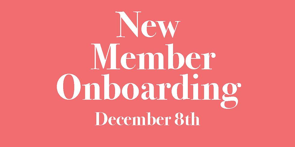 New Member Onboarding
