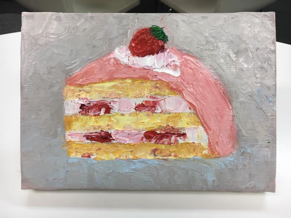 いちごがのったケーキ