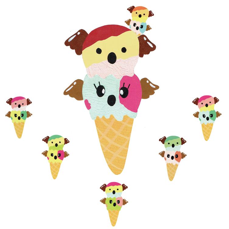 ダブルアイスクリーム・全員集合