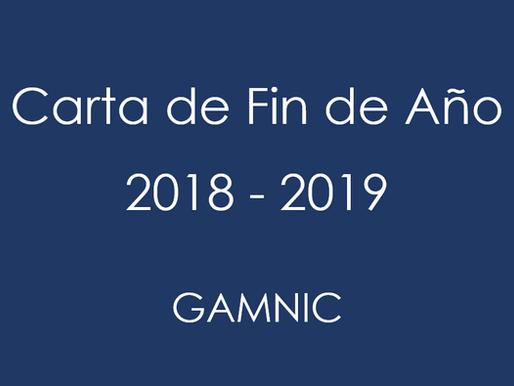Carta de Fin de Año Gamnic 2018 - 2019
