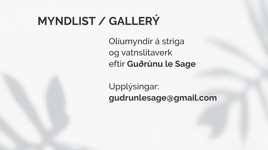 Forma / art / myndlist / gallerí