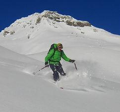 Freeriden Davos Skiguide Bergführer