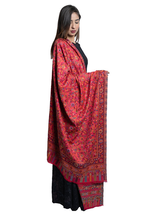 Women's Fine Wool, Kaani Jall Design, Floral Paisley Pattern, Soft & warm Shawl