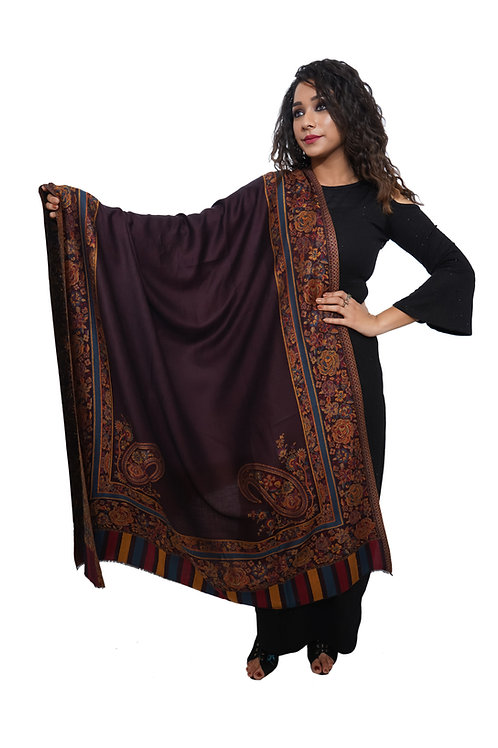 Women Fine Wool Kashmiri , Kani Desginer Palla, Pasiely, Pashmina Shawl