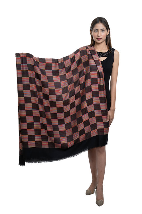 Women's Fine Wool, Designer Check Box, , Soft & Warm Shawl / Stole / Wrap