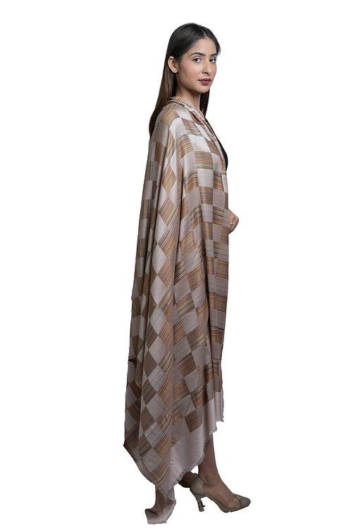 Women's Fine Wool, Designer Check Box, , Soft & Warm Shawl