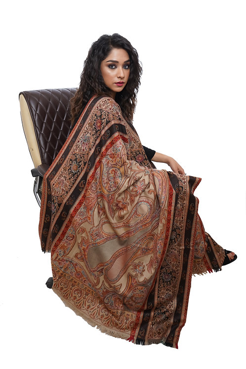 Women Kashmiri,Hand embroidered, Pashmina, Luxury  Shawl / Wrap