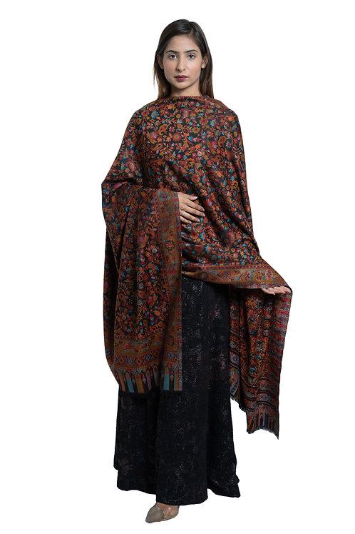 Women's Fine Wool, Kaani Jaal Design, Floral Paisley Pattern, Soft & warm Shawl