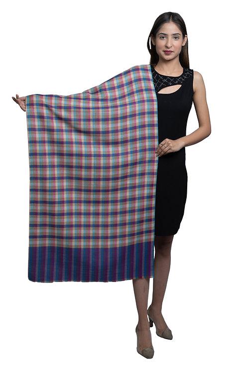 Women's Poly Wool , Checkered Pattern, Stole / Shawl / Scarf