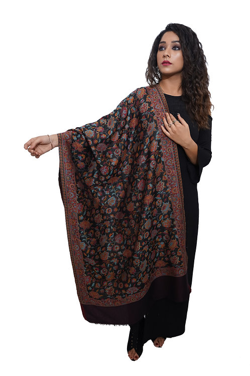 Women Fine Wool , Kaani Jaal Design,Pashmina, Soft and Warm Stole