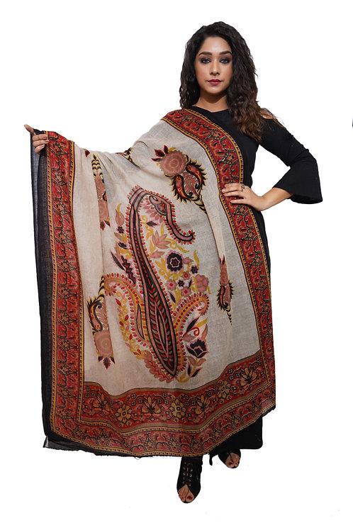 Women Fine Wool ,Designer Printed  Shawl