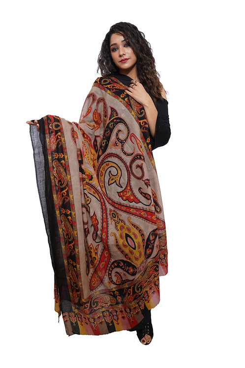 Women Fine Wool ,Designer Printed  Shawl / Wrap