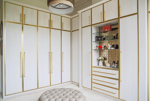 Custom designed dressing room