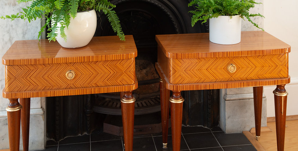 A Pair of Mid Century Italian Lacquered Side Tables
