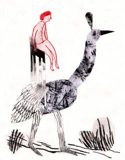 girl on bird