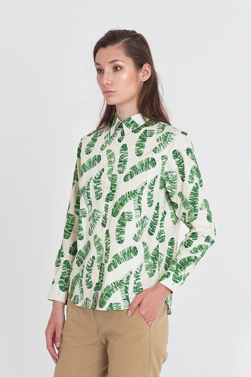 Рубашка с банановыми листьями