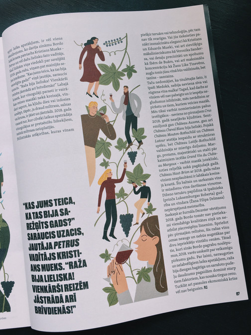 Illustrations For Forbes Latvia