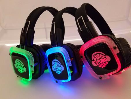 BEST Silent Disco Sound System Headphones (50 Headphones + 2 Transmitters)