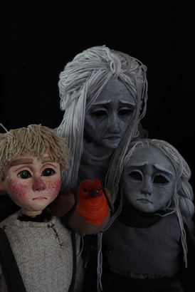 Sculpt of the puppet faces and paint treatment