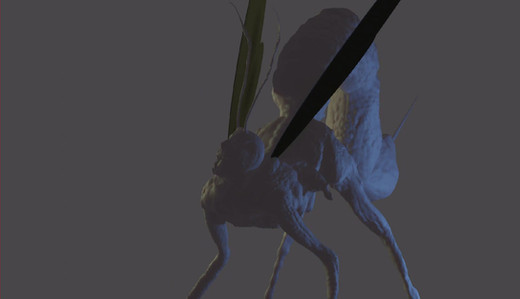 Short animation test of a creature sculpt, made on Nomad Sculpt. Rigged and Animated in Blender.