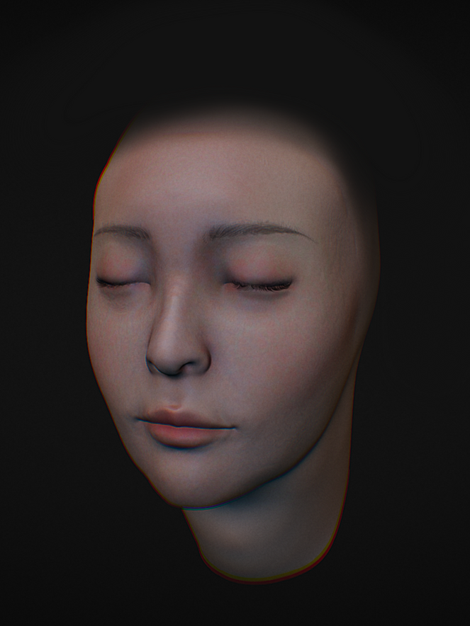 Recreation of a friend's head in Nomad Sculpt