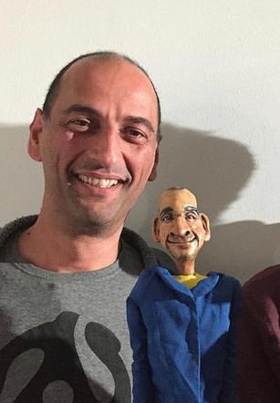 Puppet head sculpt and paint treatment