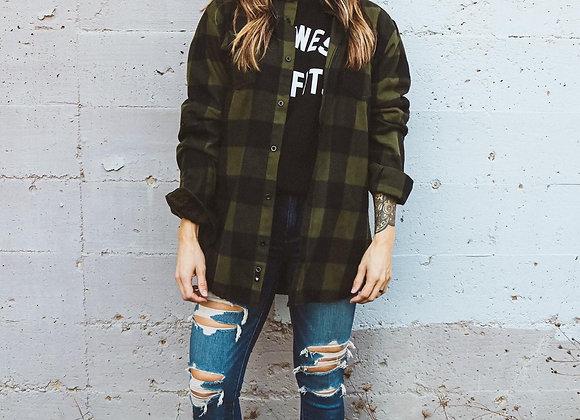 Black Canyon Flannel - Evergreen/Black