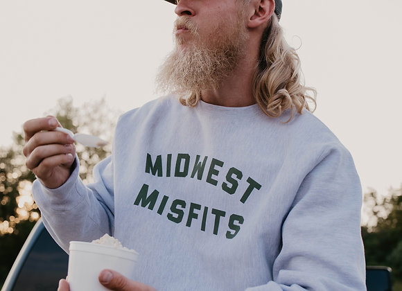Midwest Misfits Crewneck (Spruce/Gray)