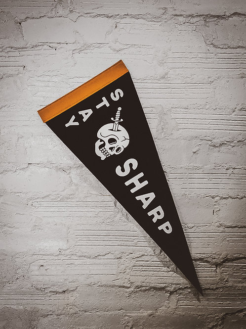 Stay Sharp Wool Pennant