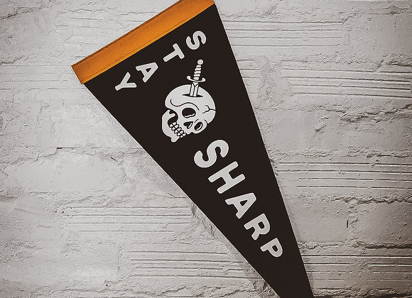 Stay Sharp Wool Pennant
