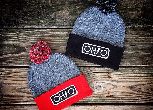 Ohio Bolt Pom Beanie