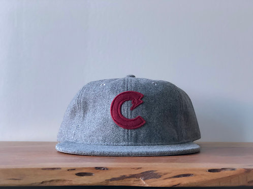C-Town Wool Ball Cap (Scarlet/Gray)