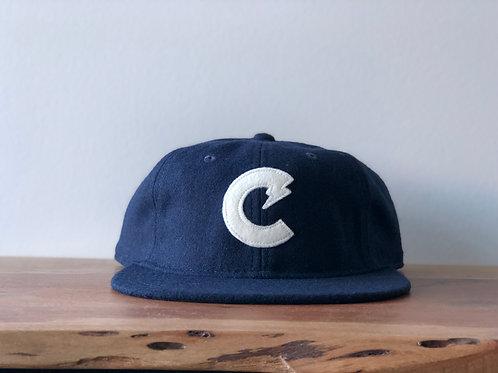 C-Town Wool Ball Cap (Navy/White)