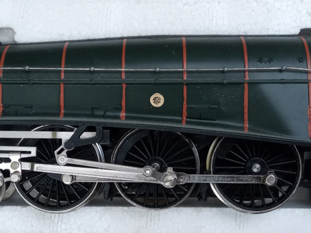 A large donation of 1970s brand new locos, coaches and scenery.