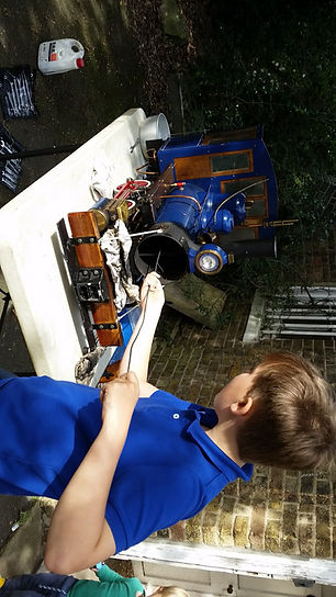 Cleaning out Oscar a miniature railway in Watford Hertfordshire
