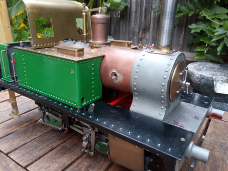 A kind donation of two live steam locomotives.