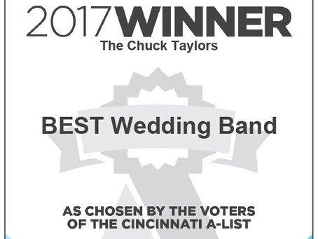 Cincinnati Wedding Band The Chuck Taylors named Best Wedding Band 2017