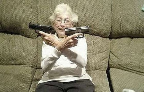 Should the government be allowed to take away a non-violent grandma's guns?
