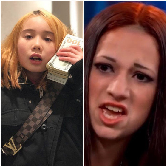 Lil' Tay FIGHTS Bhad Bhabie (How bow dah?)